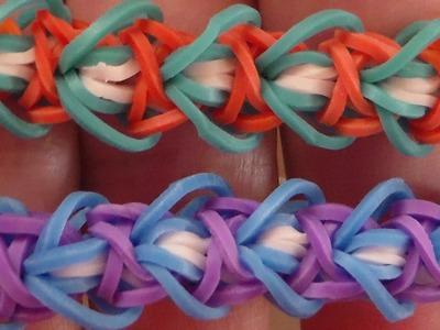 Como Hacer  Pulsera de Gomitas cariño.Rainbow Loom.Sweetheart  Bracelet