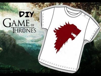 Game of Thrones DIY - Stark T-shirt