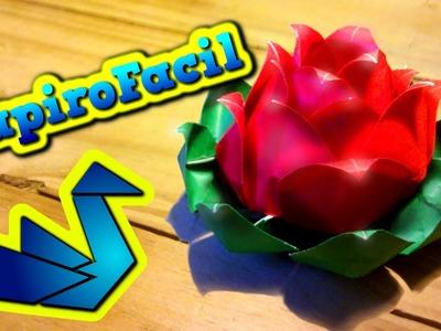 Origami Facil || Como hacer una flor de loto origami 3D