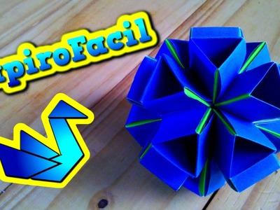 Origami Modular || Como hacer una esfera origami de triangulos