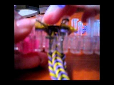 Rainbow loom pulsera doble reversible