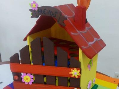 Casa para huevos en madera o arte country