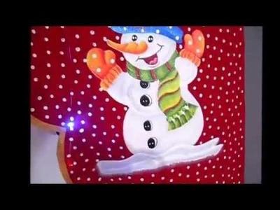Cenefa  Navideña Señor Nieve en 3D