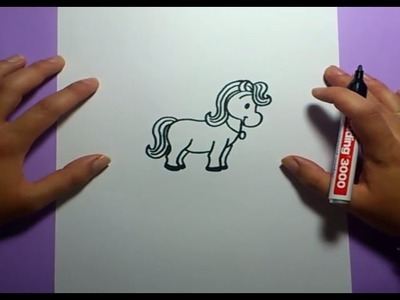 Como dibujar un caballo paso a paso 3 | How to draw a Horse 3