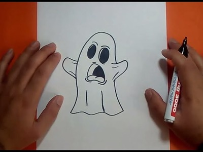 Como dibujar un fantasma paso a paso 9 | How to draw a ghost 9