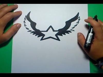 Como dibujar una estrella paso a paso 2 | How to draw a star 2