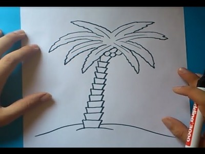 Como dibujar una palmera paso a paso 2 | How to draw a palm tree 2
