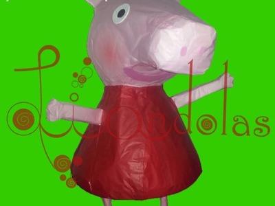 Como elaborar una Piñata de Peppa Pig - Liandolas (How to create a Peppa Pig Piñata)
