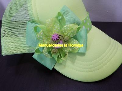 Como hacer moños faciles en cinta para el cabello.    bows and flowers easy  headband