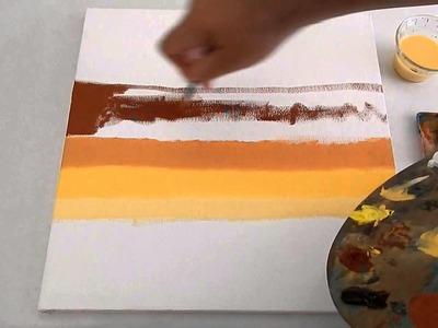 Como pintar un ATARDECER al OLEO