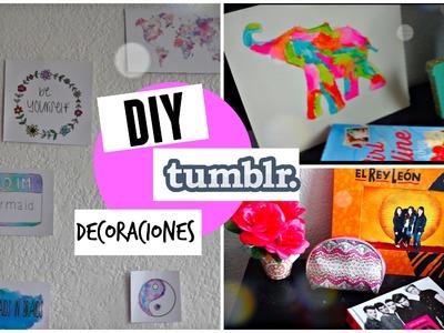 DIY Decoraciones para tu habitación TUMBLR ♡
