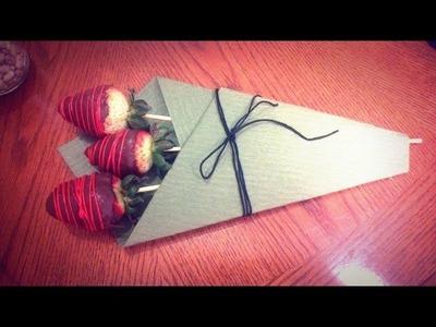 Ramo de fresas con chocolate para mama