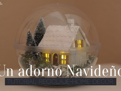 Scrapbooking Tutorial: Adorno Navideño (Home decor)
