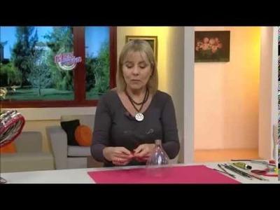 Silvina Buquete- Lampara reciclada con cestería
