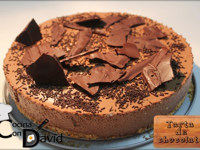 Tarta de mousse de chocolate. Cocina con David