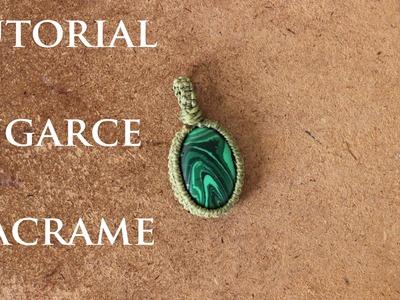 Tutorial engarce de piedra sin ranura en macrame # 3 | wrap  stone macrame