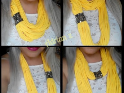 DIY : COLLAR DE CAMISETA reciclado