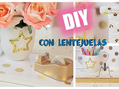 ♡DIY - Ideas para decorar con lentejuelas -  Súper fáciles y económicas. DIY Room Ideas