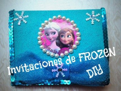 DIY invitaciones de FROZEN Elsa Anna tul Frozen invitations