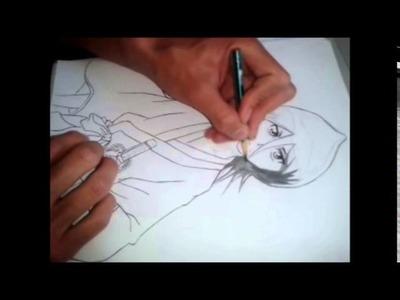Tutorial   como dibujar a rukia ( bleach )