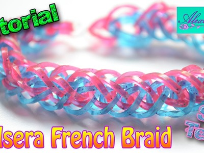 ♥ Tutorial: Pulsera French Braid de gomitas (sin telar) ♥