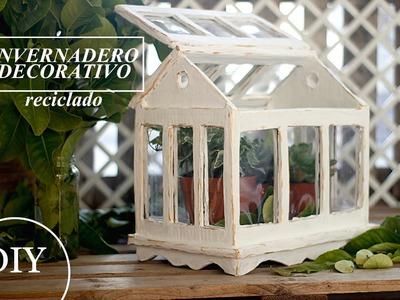 Como hacer INVERNADERO terrario decorativo RECICLADO - Video como se hace
