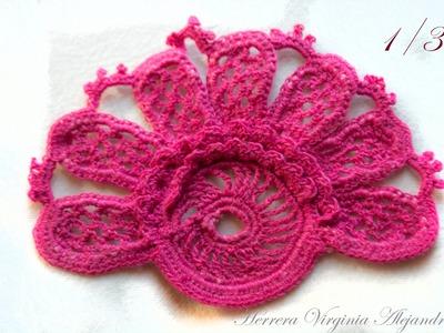 Crochet irlandés - Libro DMC - Figura 27 - 1°Parte -Irish crochet lace - DMC - Fig. 27 1° Part