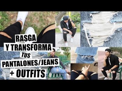 DIY: RASGA Y TRANSFORMA TUS JEANS + OUTFITS