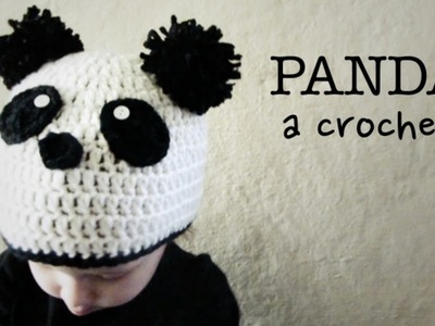 Gorro de OSO PANDA a Crochet - tutorial paso a paso (ENGLISH SUBS!)