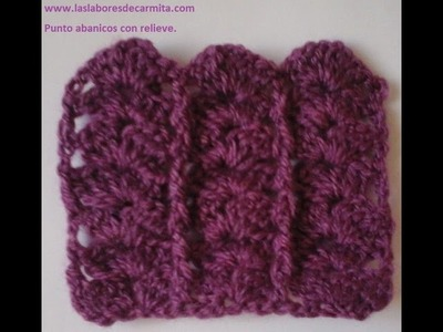 Tutorial crochet punto abanicos con relieve