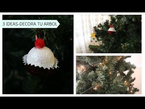 3 IDEAS HERMOSAS PARA ADORNAR TU ÁRBOL - DIY