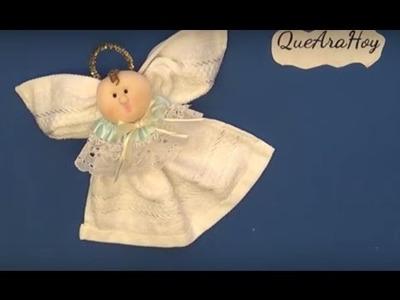 Angelito de toalla DIY