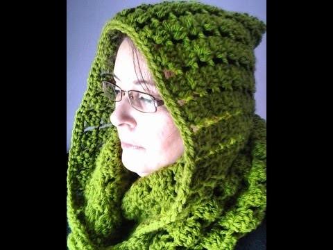 Bufanda infinita con capucha a crochet muy facil  #tutorial #DIY