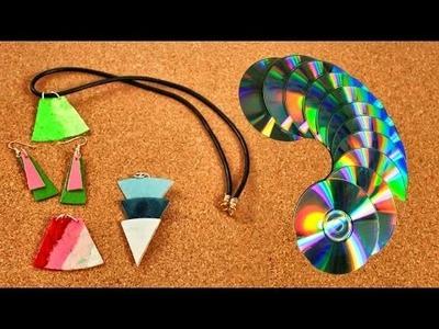 ¿ Cómo convertir tus CDs viejos en hermosos collares ? Hazlo tú mismo - DIY