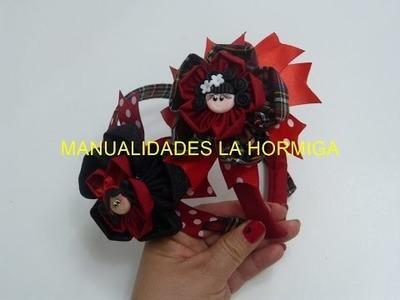 Diy Diademas Moños escolar.headband for school.How To Make a Hair Bow