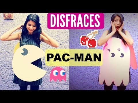 DIY Disfraces Pac Man y fantasmita | Pac Man and Ghost costume