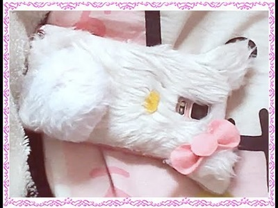 DIY funda para móvil.celular de hello kitty