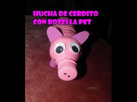 DIY Hucha de cerdito a partir de una botella PET de  50cl
