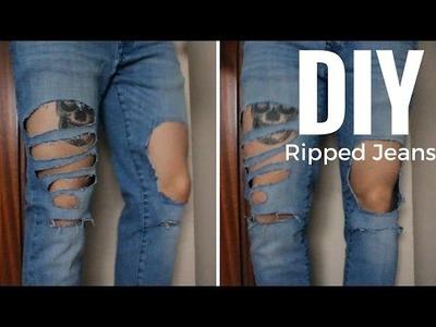 DIY Ripped Distressed Jeans | DIY Vaqueros rotos | Men's Fashion | Alex Style