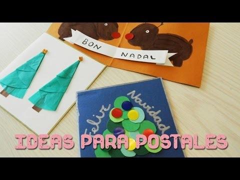 Ideas para postales de navidad | DIY niños | Sandrusqueta