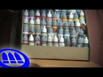 Organizador de pinturas casero - DIY Paint rack