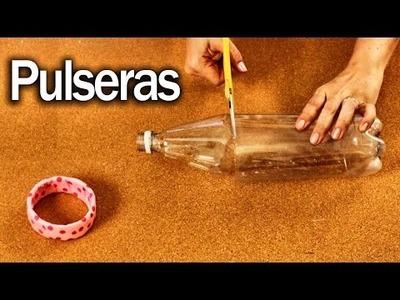 Pulseras con Botellas de Plástico - Hazlo tu misma - DIY