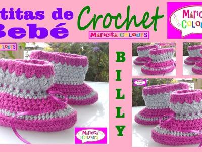Botitas Bebé Billy Express 12 - 18 meses por Maricita Colours Tutoriales de Tejido Gratis!