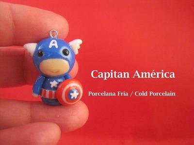 Capitán América en Porcelana Fria. Cold Porcelain