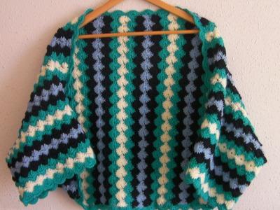 Crochet tutorial chaqueta kimono ganchillo
