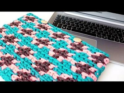 Funda para PORTATIL o TABLET en crochet TAPESTRY estilo WAYUU - tutorial paso a paso
