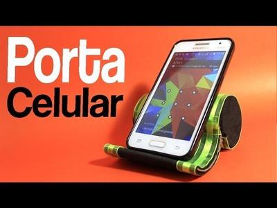 Manualidades: Porta Celular DIY. support cell.Creando ando