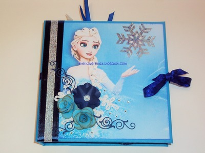 Mini álbum de scrapbooking FROZEN