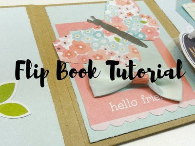 One Sheet Scrapbooking Flip Book Tutorial #1
