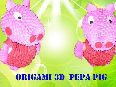 ORIGAMI 3D  PEPA PIG